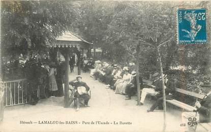 """CPA FRANCE 34 """"Lamalou les Bains, parc de l'Uscade, la buvette"""""""