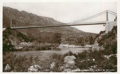 """CPSM FRANCE 34 """"Lamalou les Bains, le pont de Terrasse """""""