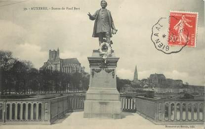 """/ CPA FRANCE 89 """"Auxerre, statue de Paul Bert"""""""