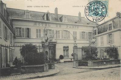 "/ CPA FRANCE 89 ""Sens, l'hôtel de Paris"""