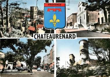 """CPSM FRANCE 13 """"Chateaurenard, vue sur l'Eglise et place de la République"""""""