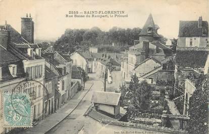 """/ CPA FRANCE 89 """"Saint Florentin, rue basse du rempart"""""""