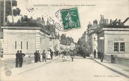 """/ CPA FRANCE 21 """"Auxonne, porte de France avec ses canons"""""""