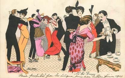 """CPA ILLUSTRATEUR SAGER """"Le Thé Tango"""""""