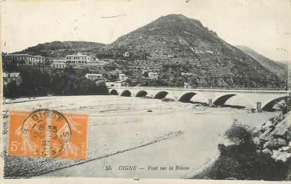 """/ CPA FRANCE 04 """"Digne, pont sur la Bléone"""""""