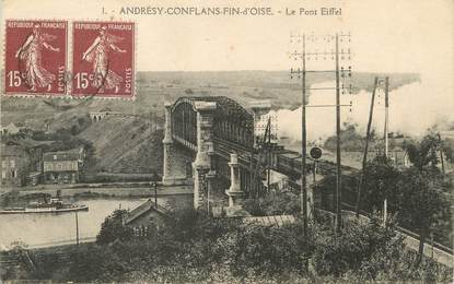 "/ CPA FRANCE 78 ""Andresy Conflans Fin d'OIse, le pont Eiffel"""