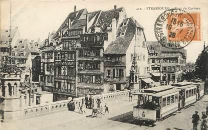 "/ CPA FRANCE 67 ""Strasbourg, pont du Corbeau"" / TRAM"