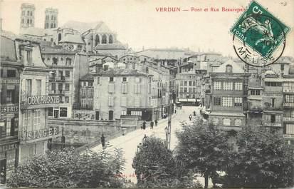 """/ CPA FRANCE 55 """"Verdun, pont et rue Beaurepaire"""""""