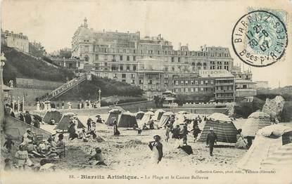 """/ CPA FRANCE 64 """"Biarritz, la plage et le casino Bellevue"""""""