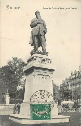 "/ CPA FRANCE 21 ""Dijon, statue de François Rude, place Darcy"""