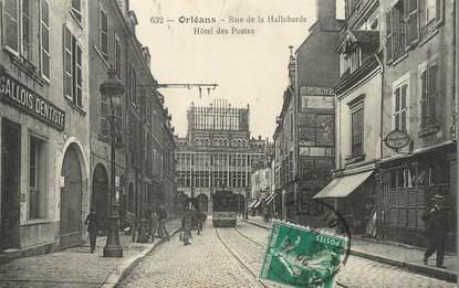 """/ CPA FRANCE 45 """"Orléans, rue de la Hallebarde, hôtel des postes"""" / DENTISTE"""