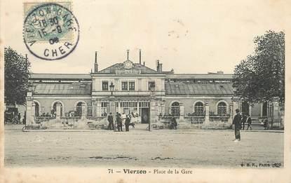 """/ CPA FRANCE 18 """"Vierzon, place de la gare"""""""