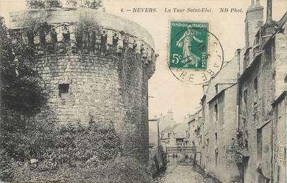 """/ CPA FRANCE 58 """"Nevers, la tour Saint Eloi'"""