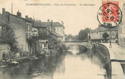 "/ CPA FRANCE 88 ""Rambervillers, pont du Faubourg"""