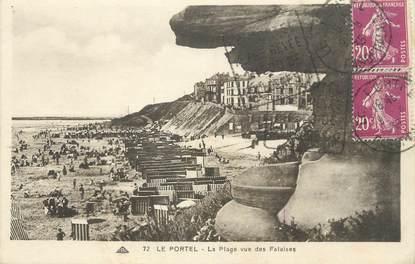 """/ CPA FRANCE 62 """"Le Portel, la plage vue des falaises"""""""