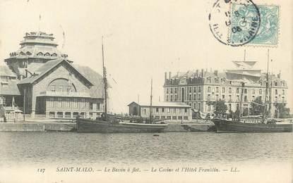 """/ CPA FRANCE 35 """"Saint Malo, le bassin à flot, le casino et l'hôtel Franklin"""""""