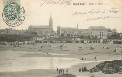 """/ CPA FRANCE 22 """"Saint Quay, polage et église"""""""