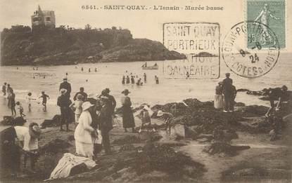 "/ CPA FRANCE 22 ""Saint Quay, l'Isnain, marée basse"" / FLAMME"