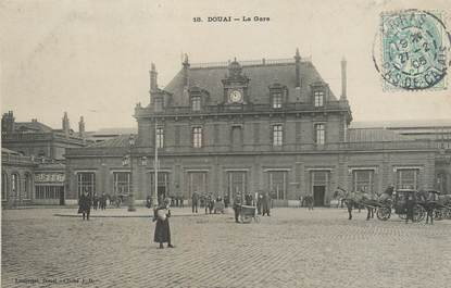 """/ CPA FRANCE 59 """"Douai, la gare"""""""