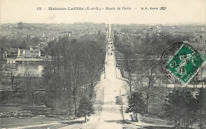 """/ CPA FRANCE 78 """"Maisons Laffitte, route de Paris"""""""