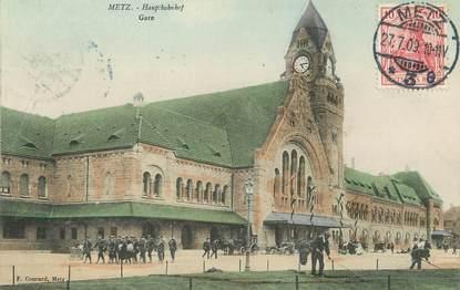 "/ CPA FRANCE 57 ""Metz, gare """