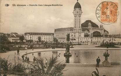 "/ CPA FRANCE 87 ""Limoges, nouvelle gare"""