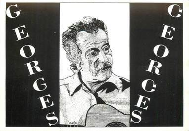 "CPSM ILLUSTRATEUR LE JOLLY ""Georges Brassens"""