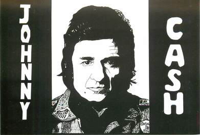 "CPSM ILLUSTRATEUR LE JOLLY ""Johnny Cash"""