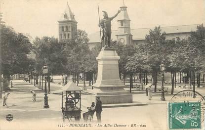 """/ CPA FRANCE 33 """"Bordeaux, les allées Damour"""""""