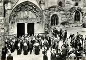 """33 Gironde CPSM FRANCE 33 """"Saint Emilion, Eglise monolithe, sortie des Jurats"""""""