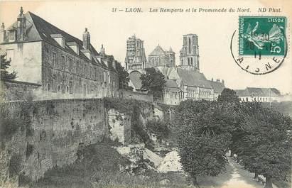 """/ CPA FRANCE 02 """"Laon, les remparts et la promenade du Nord"""""""