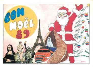 """CPSM ILLUSTRATEUR  LE JOLLY """"Noël 89"""""""