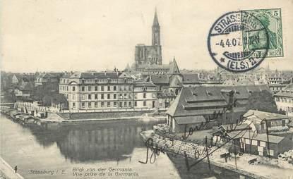 """/ CPA FRANCE 67 """"Strasbourg, vue prise de la Germania"""""""
