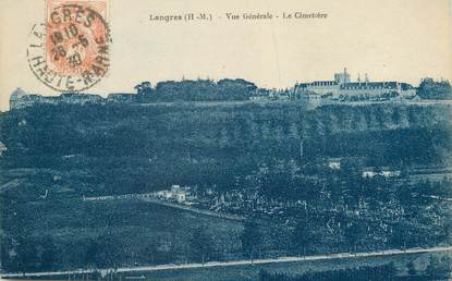 """/ CPA FRANCE 52 """"Langres, vue générale, le cimetière"""""""