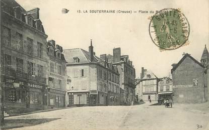 """/ CPA FRANCE 23 """"La Souterraine, place du marché"""""""