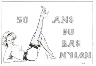CPSM  ILLUSTRATEUR   LE  JOLLY   /  NU / COLLANT NYLON