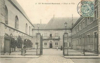 """/ CPA FRANCE 18 """"Saint Amand Montrond, hôtel de ville"""""""