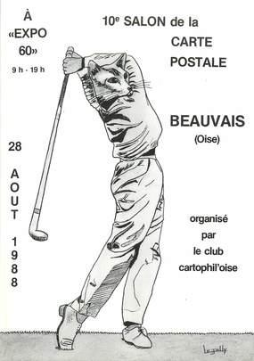CPSM  ILLUSTRATEUR    LE  JOLLY   / 10e salon de la carte postale à Beauvais / GOLF