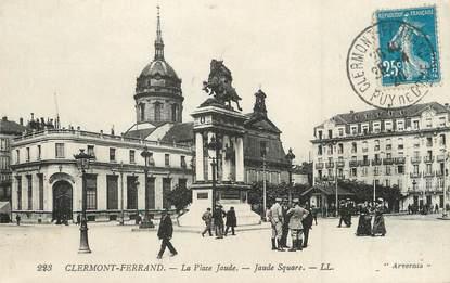 """/ CPA FRANCE 63 """"Clermont Ferrand, la place Jaude"""""""