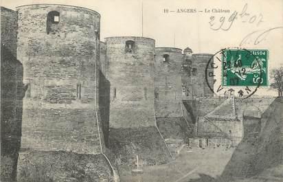 "/ CPA FRANCE 49 ""Angers, le château"""