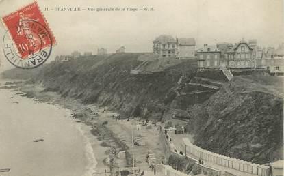 """/ CPA FRANCE 50 """"Granville, vue générale de la plage"""""""