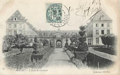 """/ CPA FRANCE 71 """"Autun, l'école de la cavalerie"""""""