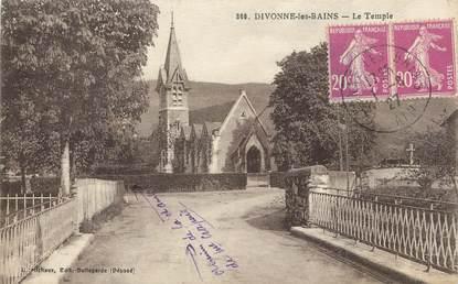 """/ CPA FRANCE 01 """"Divonne les Bains, le temple"""""""