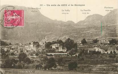 """/ CPA FRANCE 01 """"Un coin de Gex et les Montagnes"""""""