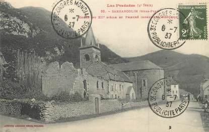 """/ CPA FRANCE 65 """"Sarrancolin, église"""""""