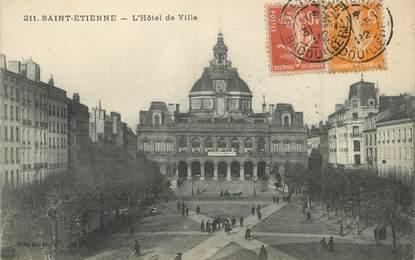 """/ CPA FRANCE 42 """"Saint Etienne, l'hôtel de ville"""""""