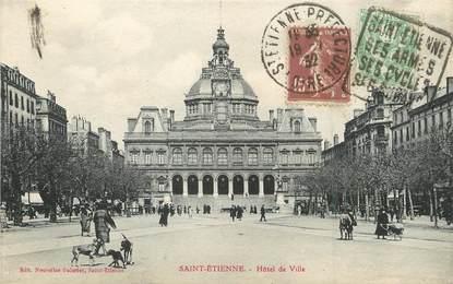 """/ CPA FRANCE 42 """"Saint Etienne, hôtel de ville"""" / FLAMME"""