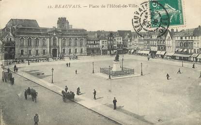 """/ CPA FRANCE 60 """"Beauvais, place de l'hôtel de ville"""""""