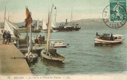 """/ CPA FRANCE 35 """"Dinard, la cale et le ponton des Vedettes"""" / BATEAU"""