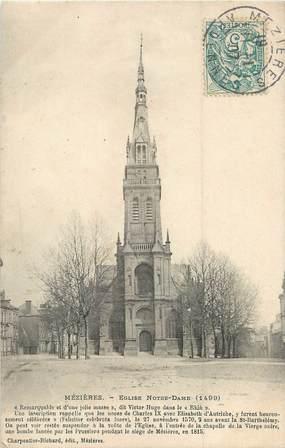 """/ CPA FRANCE 08 """"Charleville Mézières, église Notre Dame"""""""